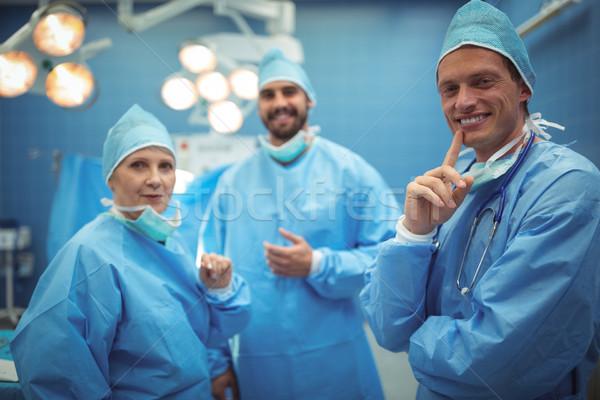 Portré sebészek áll operáció színház kórház Stock fotó © wavebreak_media