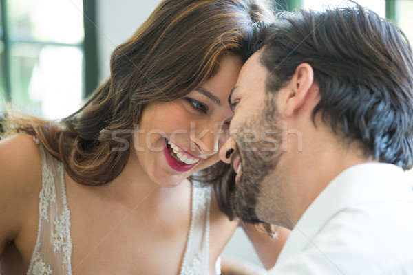 Romantic couple spending leisure time in restaurant Stock photo © wavebreak_media