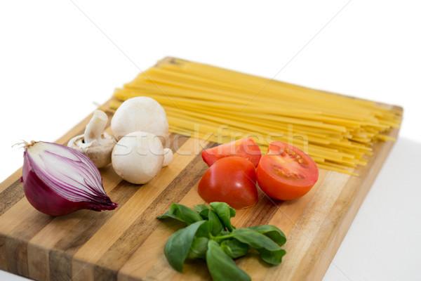 Magasról fotózva kilátás zöldség spagetti levél életstílus Stock fotó © wavebreak_media