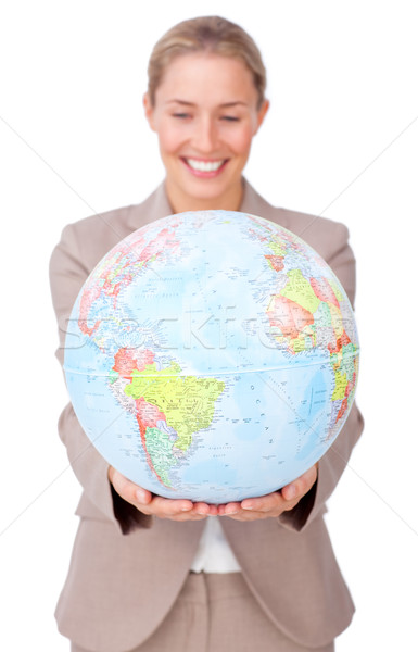 Charismatic businesswoman smiling at global business expansion Stock photo © wavebreak_media