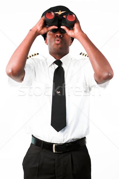 экспериментального глядя бинокль бизнеса стороны костюм Сток-фото © wavebreak_media