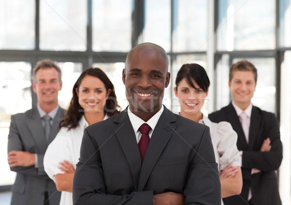 Stockfoto: Business · team · kantoor · achtergrond · zakenman · groep · pak