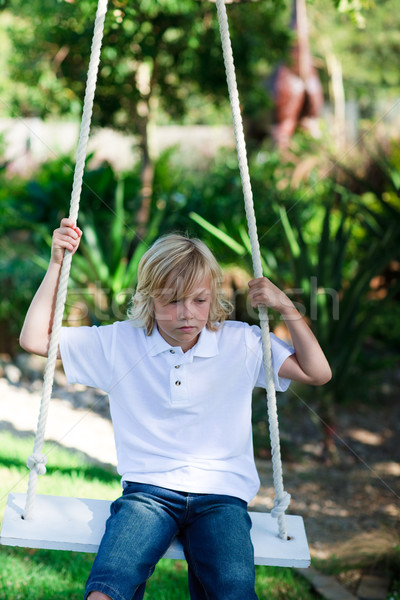 Kid swing parco felice bambino Foto d'archivio © wavebreak_media