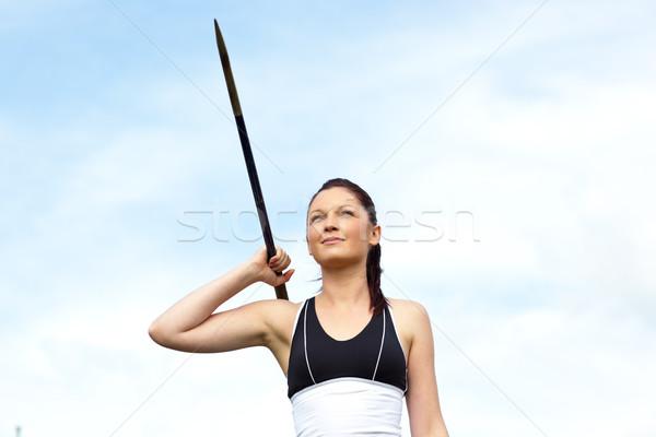 Női atléta dob kint nő férfi Stock fotó © wavebreak_media