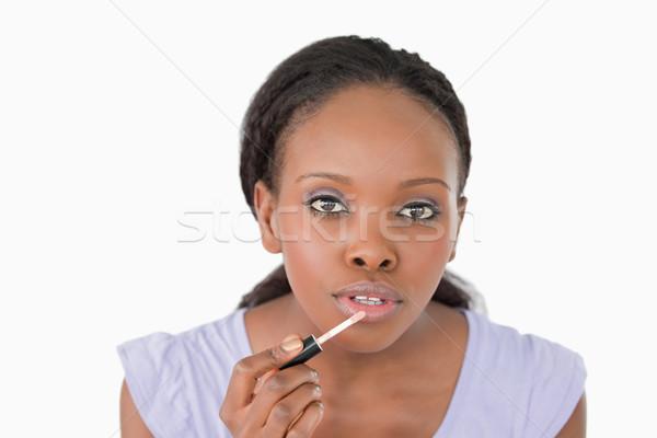 Mulher jovem gloss branco mulher moda Foto stock © wavebreak_media