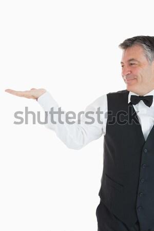 Retrato jovem empresário dor nas costas branco trabalhar Foto stock © wavebreak_media