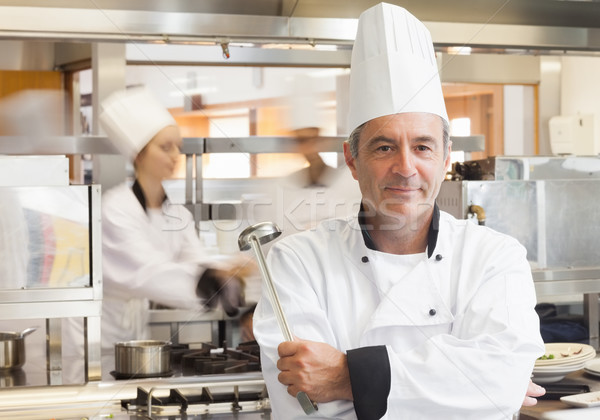 повар ковш улыбаясь человека счастливым Сток-фото © wavebreak_media