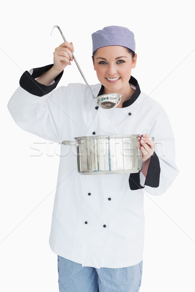 örvend szakács adag merőkanál edény kamera Stock fotó © wavebreak_media