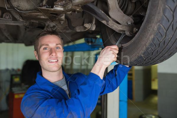 механиком автомобилей гаечный ключ портрет мужчины Сток-фото © wavebreak_media