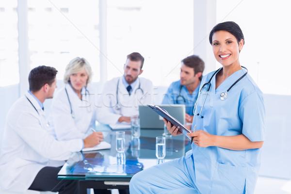Kobiet chirurg koledzy spotkanie Zdjęcia stock © wavebreak_media