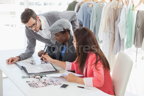Fashion designers discussing designs in studio Stock photo © wavebreak_media
