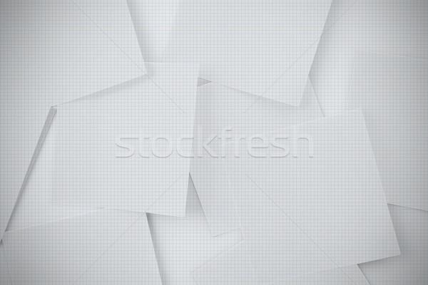 Digitally generated grid paper strewn Stock photo © wavebreak_media