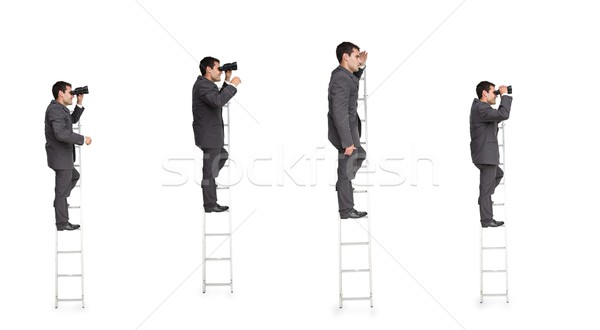 Multiple image of businessman on ladder Stock photo © wavebreak_media