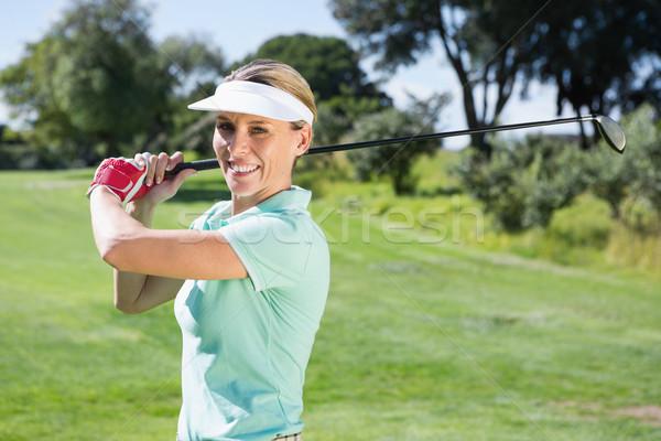 женщины гольфист выстрел улыбаясь камеры Сток-фото © wavebreak_media