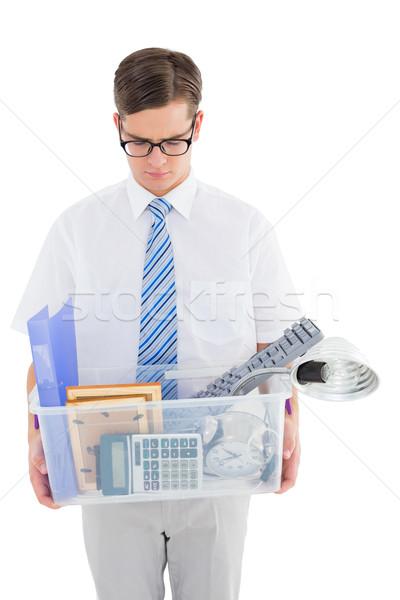 Empresário caixa negócio triste amarrar Foto stock © wavebreak_media