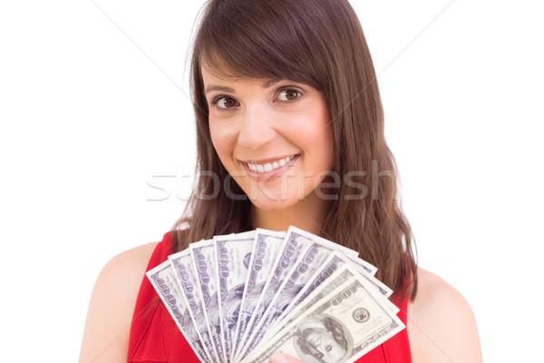 Morena ventilador dólares blanco dinero Foto stock © wavebreak_media