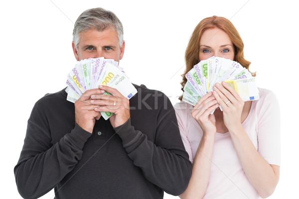 Casuale Coppia contanti bianco donna Foto d'archivio © wavebreak_media