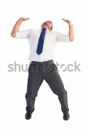 üzletember görbület toló fehér férfi vállalati Stock fotó © wavebreak_media