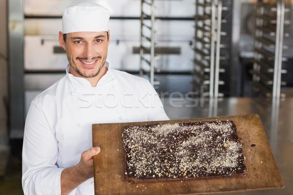 Bakker tonen vers gebakken kabouter keuken Stockfoto © wavebreak_media