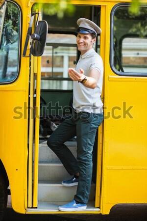 かわいい 徒歩 スクールバス 外 小学校 学校 ストックフォト © wavebreak_media