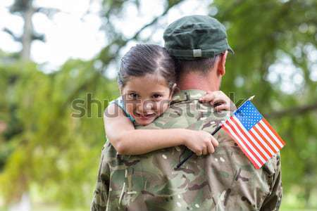 Soldier reunited with her son Stock photo © wavebreak_media