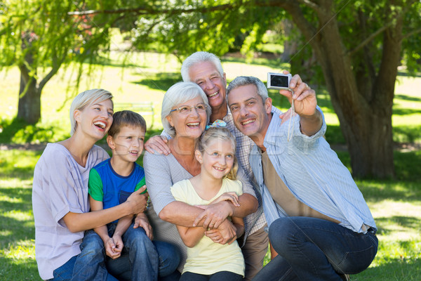 Happy family taking a selfie  Stock photo © wavebreak_media