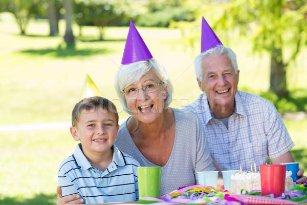 Felice nonni nipote primavera party Foto d'archivio © wavebreak_media