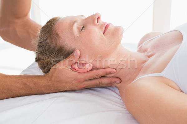 Woman receiving neck massage  Stock photo © wavebreak_media