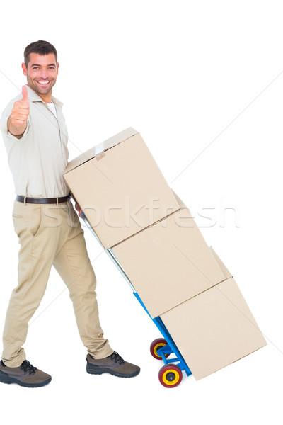 Mensajero cartón cajas Foto stock © wavebreak_media