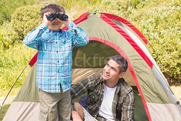 Père en fils tente homme nature garçon Photo stock © wavebreak_media