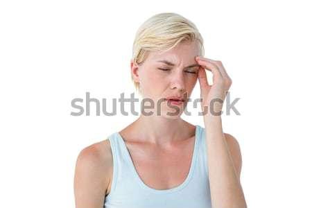 Vonzó nő fejfájás fehér nő egészség izom Stock fotó © wavebreak_media