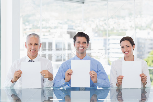 улыбаясь бизнес-команды бумаги служба бизнеса Сток-фото © wavebreak_media