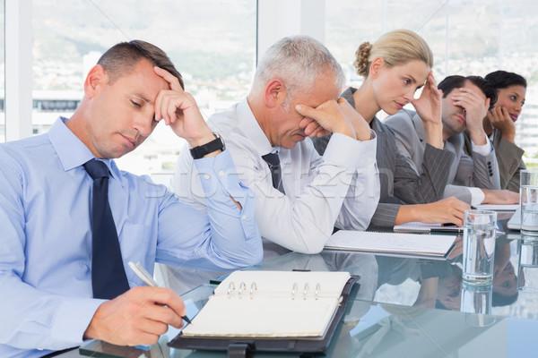 Cansado equipe de negócios conferência escritório negócio água Foto stock © wavebreak_media