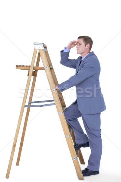 изображение бизнесмен Постоянный лестнице глядя Сток-фото © wavebreak_media