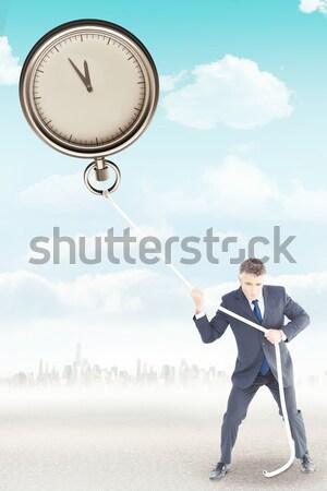 Işkadını takım elbise saat beyaz kadın Stok fotoğraf © wavebreak_media