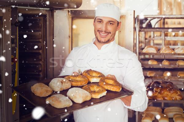 画像 雪 幸せ パン ストックフォト © wavebreak_media