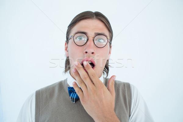 Olhando surpreendido câmera branco retrato Foto stock © wavebreak_media