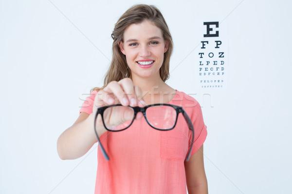 Gafas examen de la vista blanco Foto stock © wavebreak_media