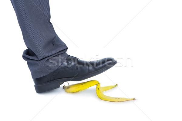 Mann Fuß Bananen weiß Stock foto © wavebreak_media