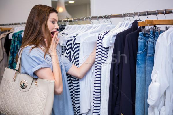 ブルネット 価格 服 ファッション ブティック ストックフォト © wavebreak_media