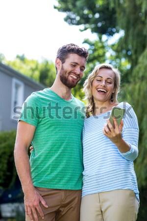Portret glimlachend senior vrienden oefening Stockfoto © wavebreak_media