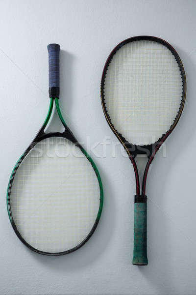 Overhead view of tennis rackets Stock photo © wavebreak_media