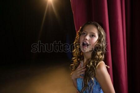 Portrait of actress standing on the stage Stock photo © wavebreak_media