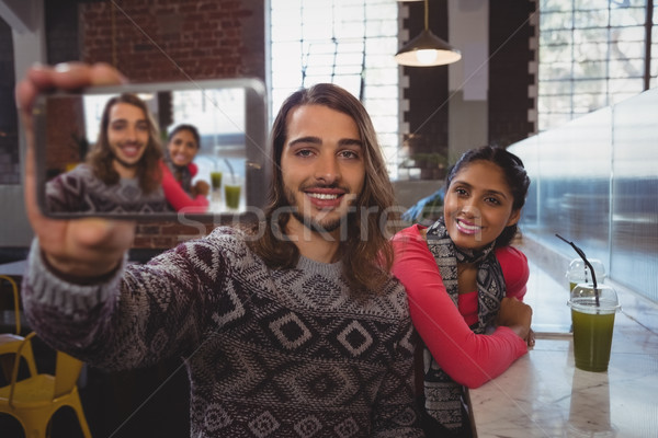Man vrouwelijke vriend cafe jonge Stockfoto © wavebreak_media