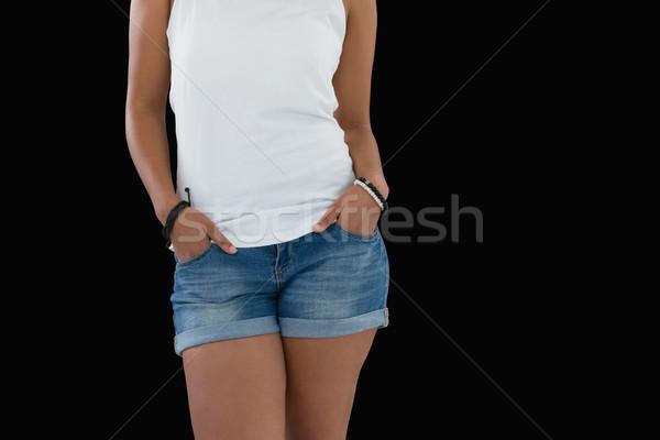 女性 立って 手 若い女性 赤ちゃん ストックフォト © wavebreak_media