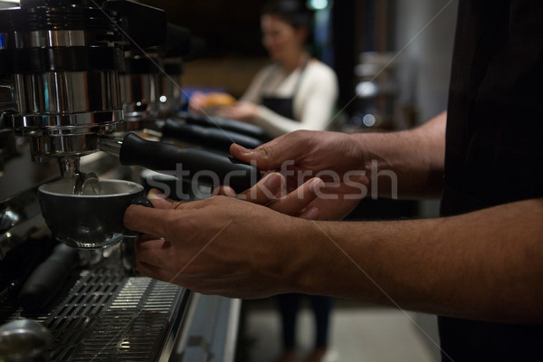 Mid section of waiter working at counter Stock photo © wavebreak_media