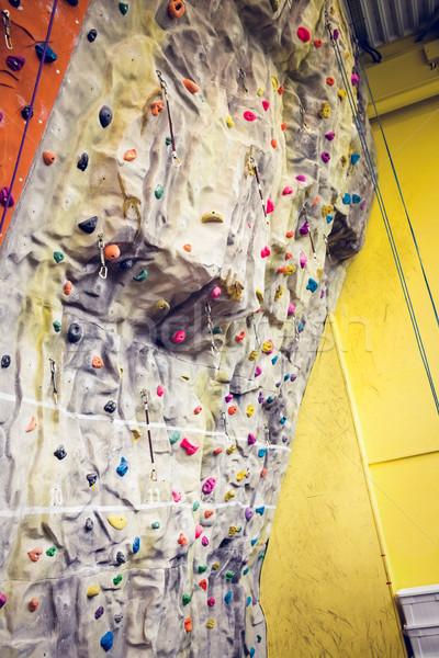 Wspinaczki ściany siłowni sportu fitness treningu Zdjęcia stock © wavebreak_media
