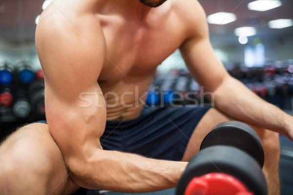 соответствовать человека весов спортзал Сток-фото © wavebreak_media