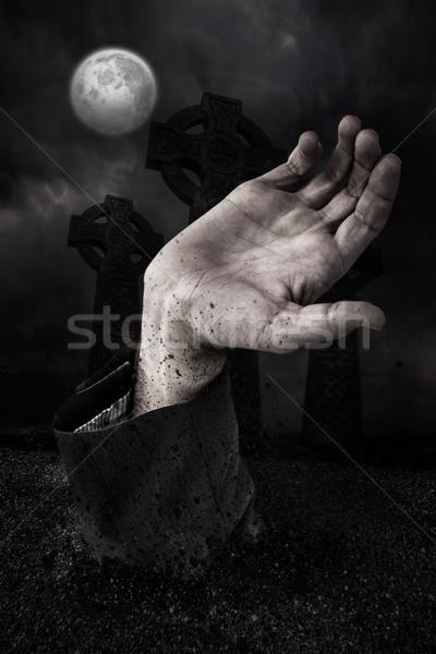 Zombie main grave généré nuage Photo stock © wavebreak_media