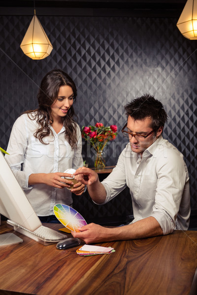 Creatieve zakenman werken kleur kantoor Stockfoto © wavebreak_media